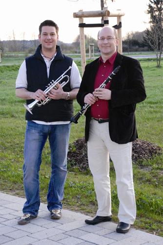 Die Dirigenten des Musikverein Gundelsheim Josef Gentil und Thomas Wolf
